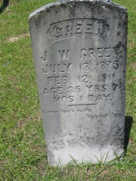 James Wiley Green Grave Marker