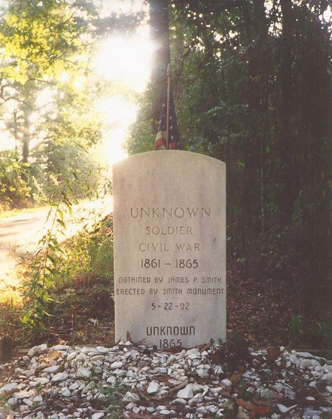 "Down a rural road in Union Parish, near Alabama Landing, on an embankment, you will find this monument for the ""Unknown Soldier"". Placed by my Dad on 5/22/92, marking the gravesite of a Civil War Soldier..... I have done nothing to earn the freedoms I enjoy, but many men and women gave their life, and so did Jesus!"