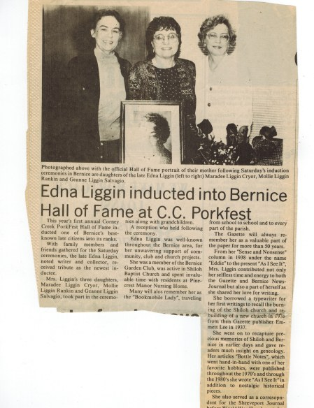 Edna Liggin Inducted