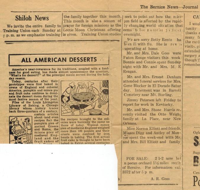 Shiloh News 1961