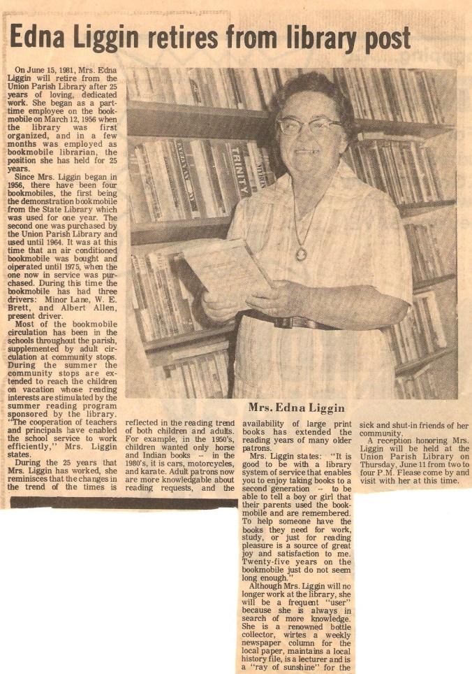 Edna Liggin Retires