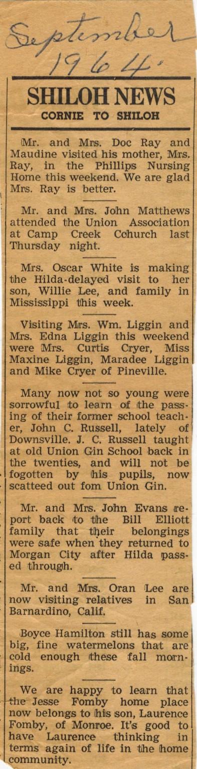 shiloh-news-september-1964