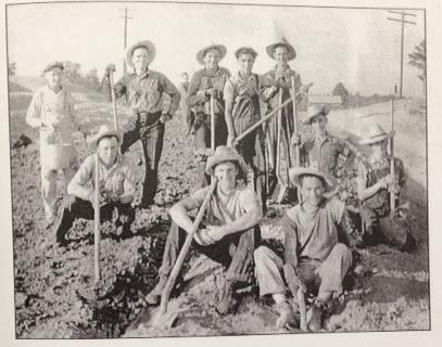 Crew of First Concrete Road in Farmerville