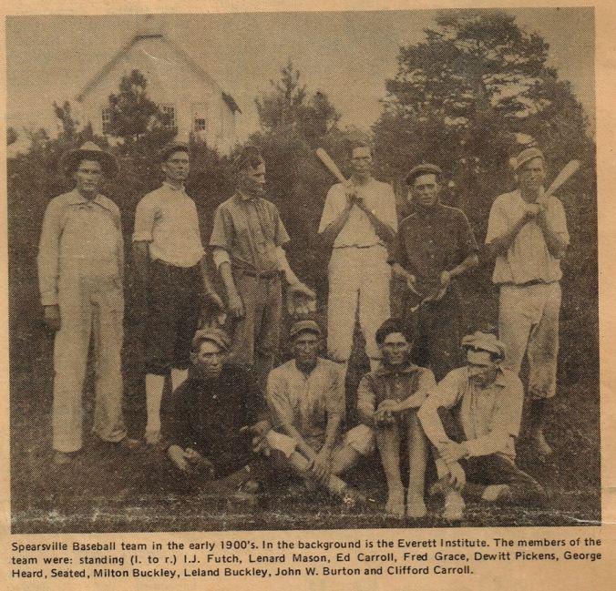 Spearsville Baseball Team early1900s