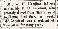 D C Coplen Death