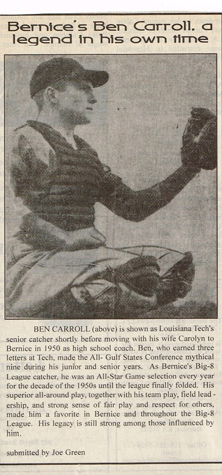 Bernice Baseball Ben Carroll