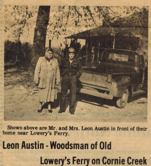 Leon Austin Woodsman of Old Lowery's Ferry