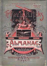 Rev Irl R Hicks Almanac 1904