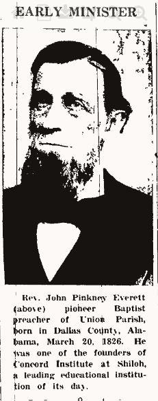 Rev John Pinkney Everett