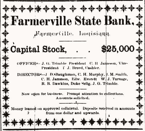Farmerville Local News The Gazette August 1904